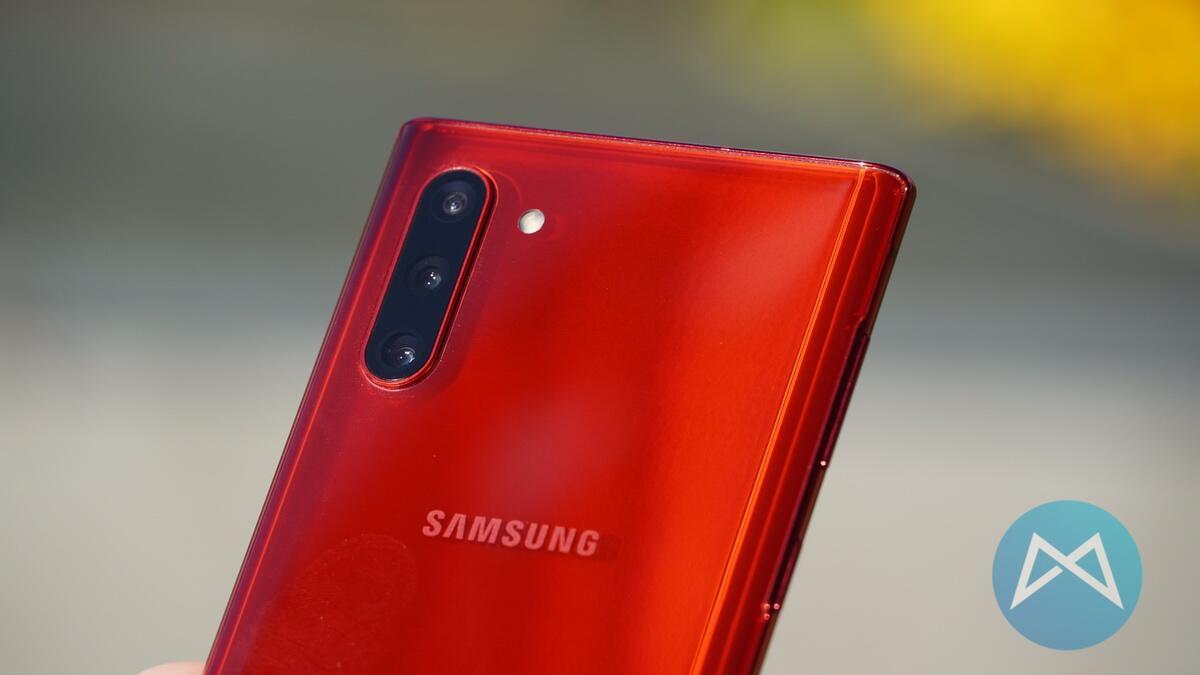 Aura Red Samsung Galaxy Note 10 5g Kamera