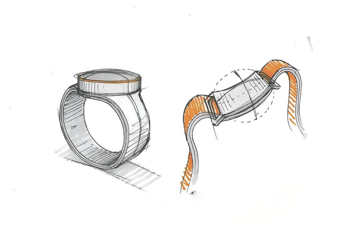 Oneplus Smartwatch Skizze