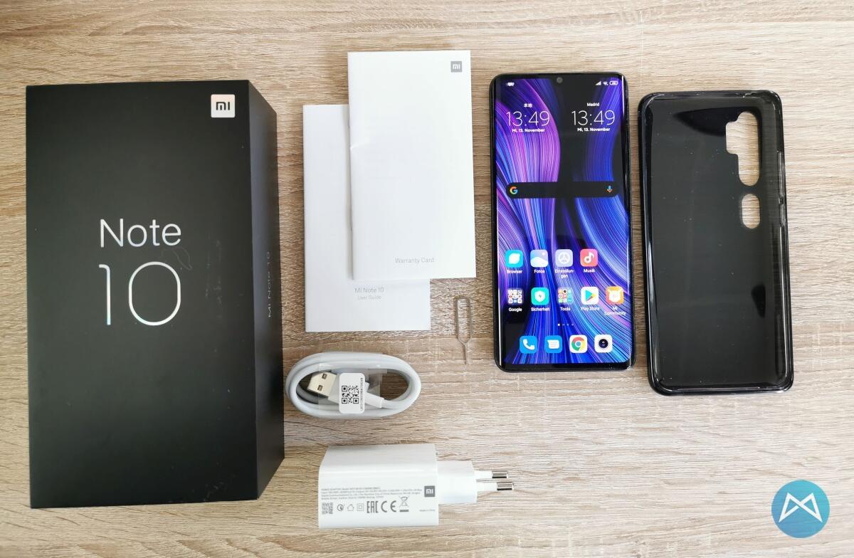 Xiaomi Note 10 Lieferumfang
