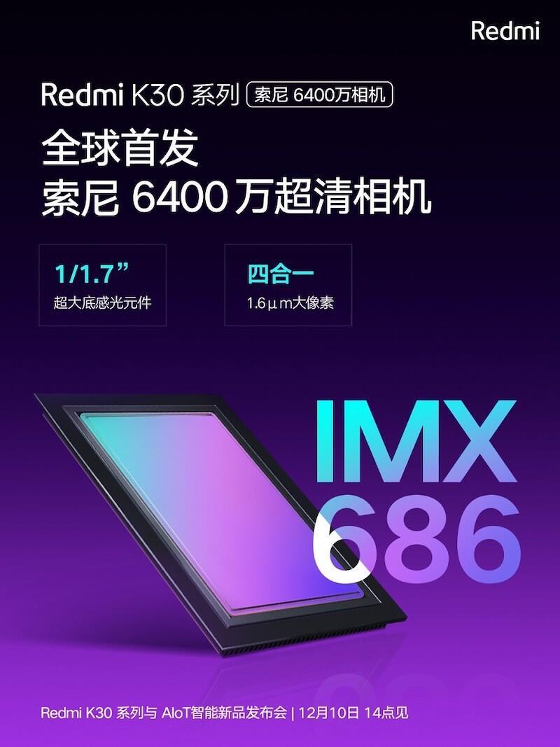 Redmi K30 Sony Imx686