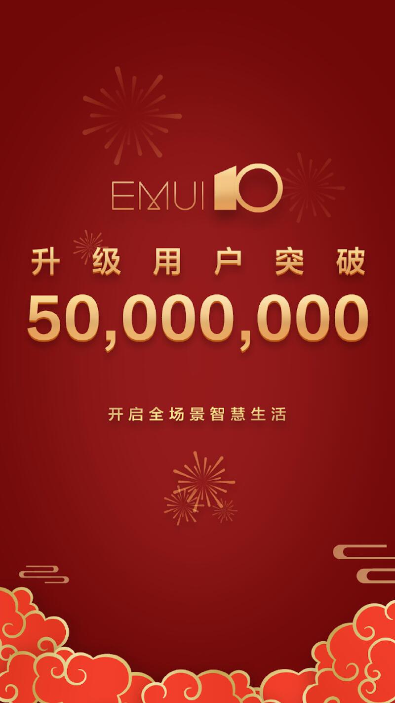 Huawei Emui 10 50 Millionen