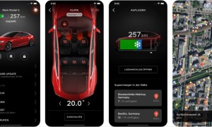 Tesla App Screens