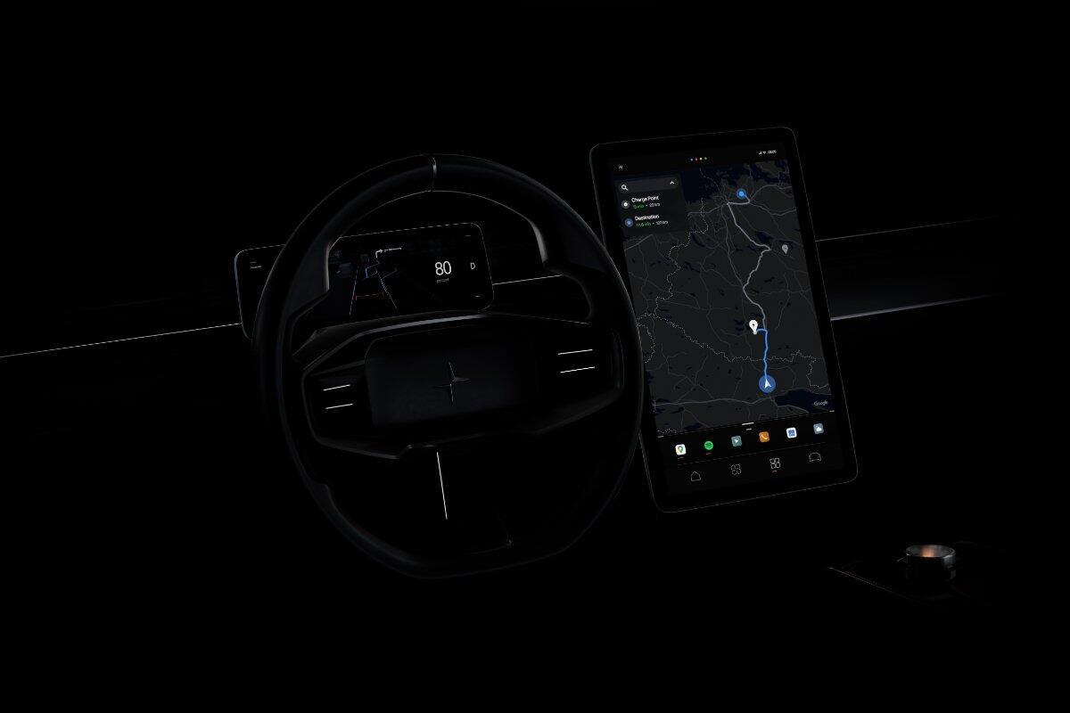 Android Auto Polestar Header