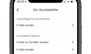 Siri Kurzbefehle Gmail Ios