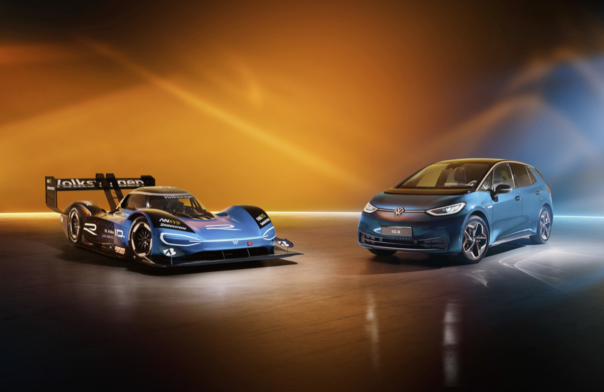 Race Car Meets Production Model: Volkswagen Id.r And Id.3 At The