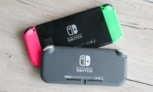 Nintendo Switch Lite Tisch Header