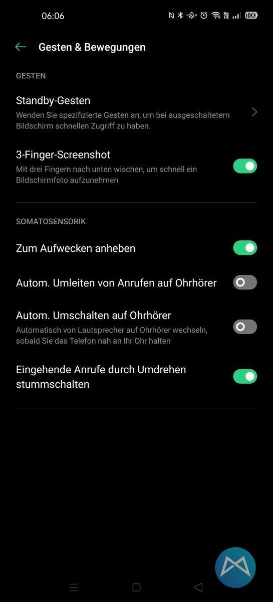 Oppo Find X2 Pro Gesten
