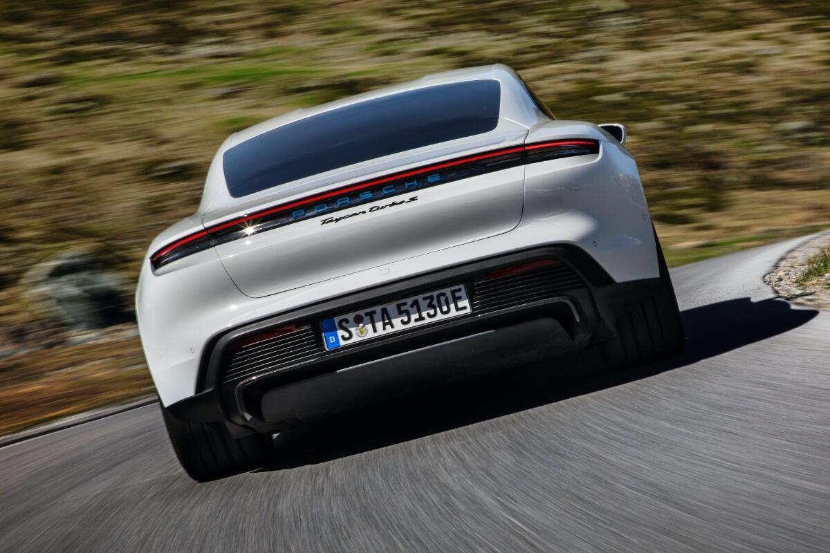 Porsche Taycan Back Header