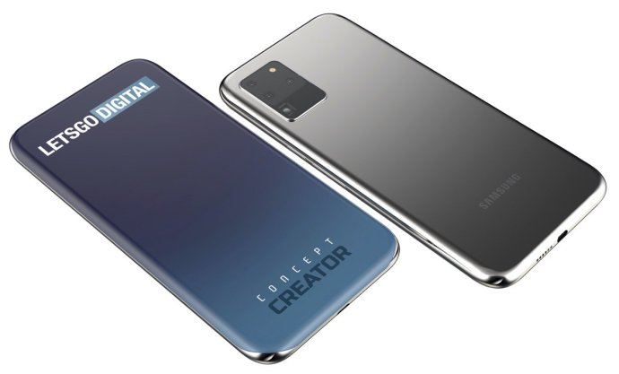 Samsung Display Vier Seiten Mockups