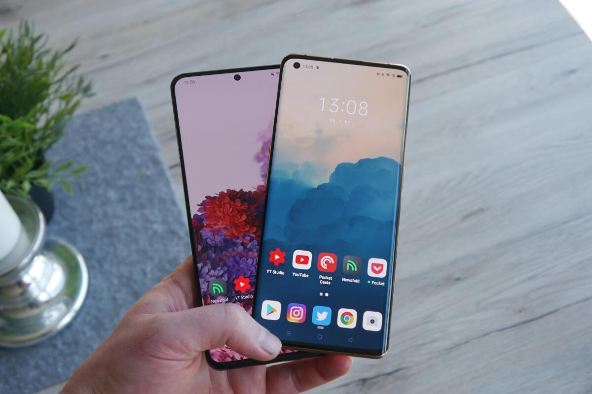 Samsung Galaxy S20 Ultra Oppo Find X2 Pro Test1