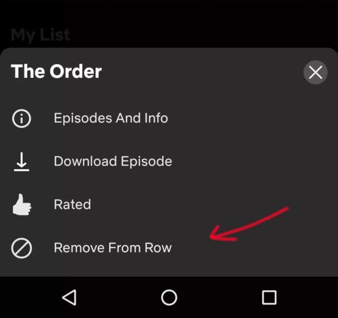 Netflix Weiterschauen Entfernen