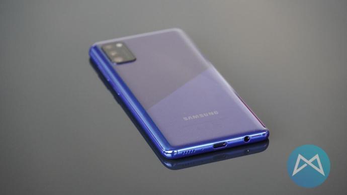Samsung Galaxy A41 Blau Rueckseite