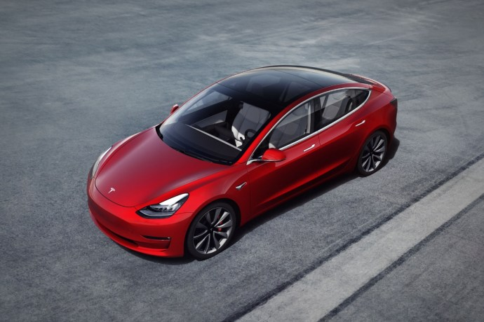 Tesla Model 3 Top Header