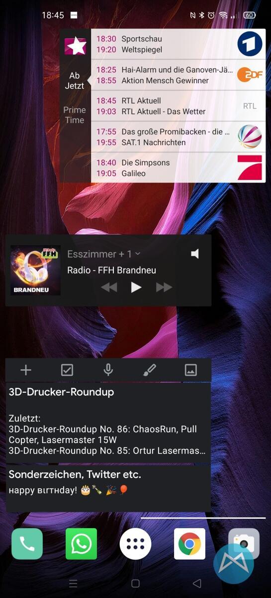 Oppo Find X2 Pro 2020 Widgets Seite 2