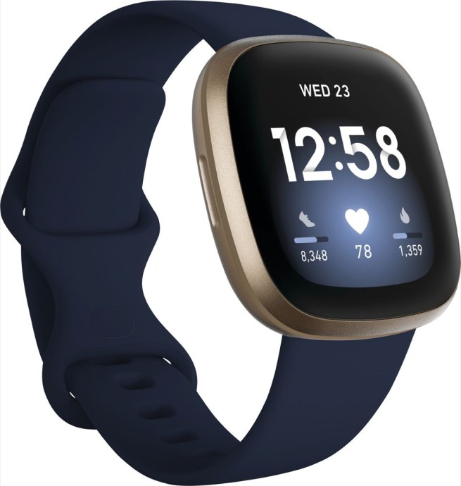Fitbit Versa Giold Blau