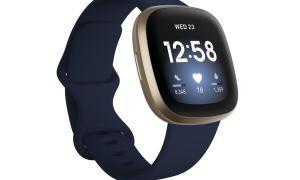 Fitbit Versa 3 Gold Blau