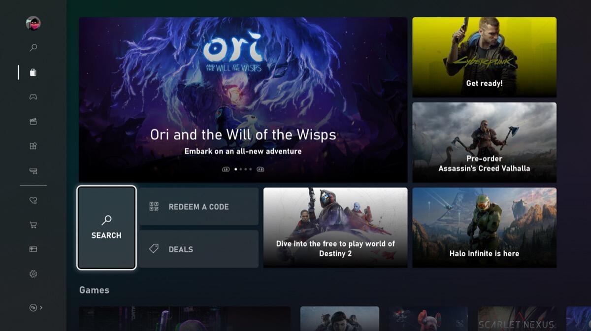 Xbox Store Neu