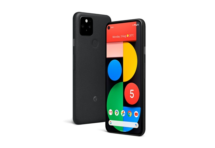 Google Pixel 5 Schwarz Header