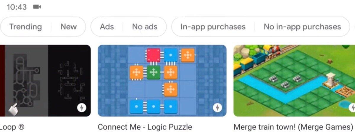 Google Play Games Suche