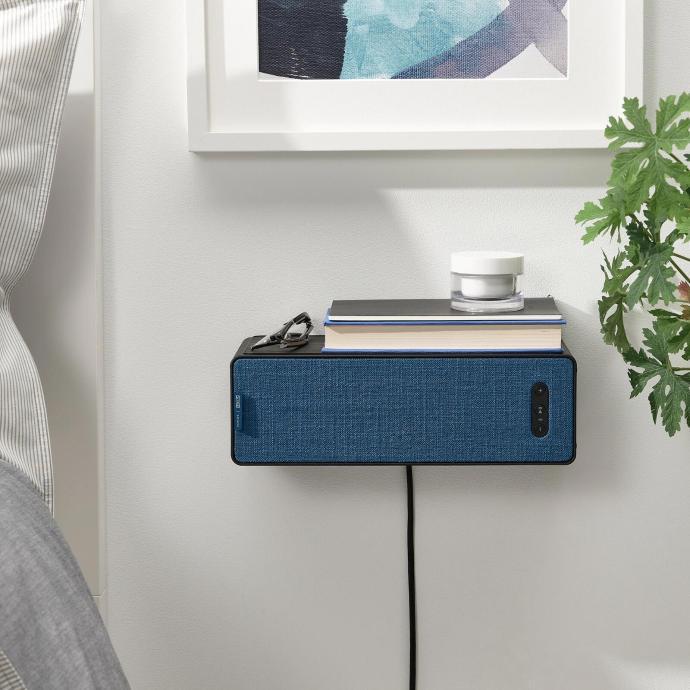 Ikea Symfonisk Regal Blau