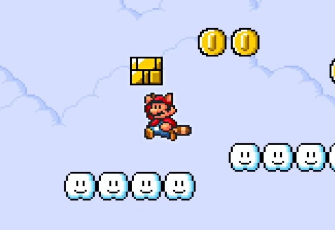 Super Mario Retro Header