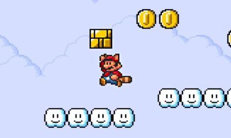Super Mario Retro Header