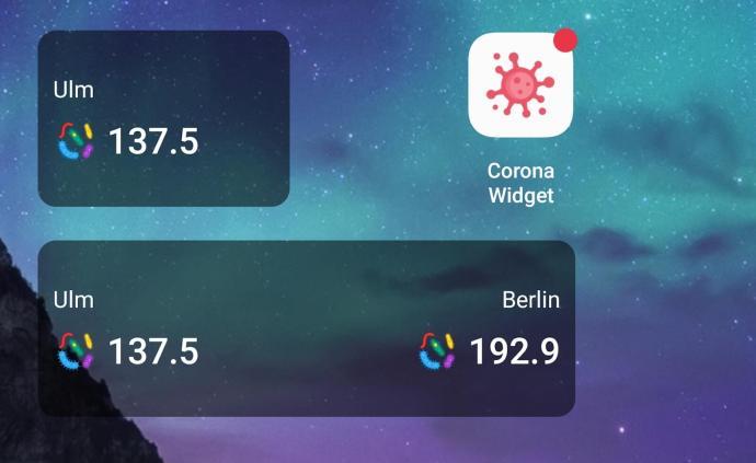 Corona Widget Android