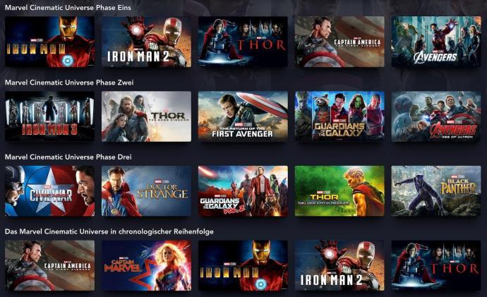 Disney Plus Marvel Filme