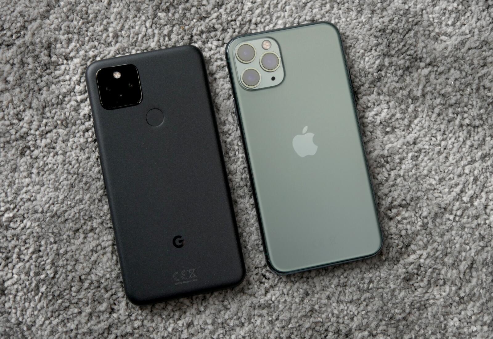 Google Pixel 5 Iphone Back