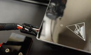 Ortur Obsidian 3d Drucker Printer Druckbett Kabelhalterung