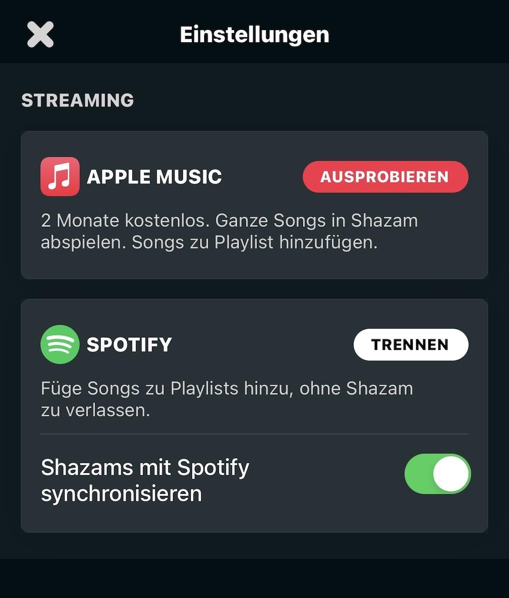 Apple Music Shazam Aktion