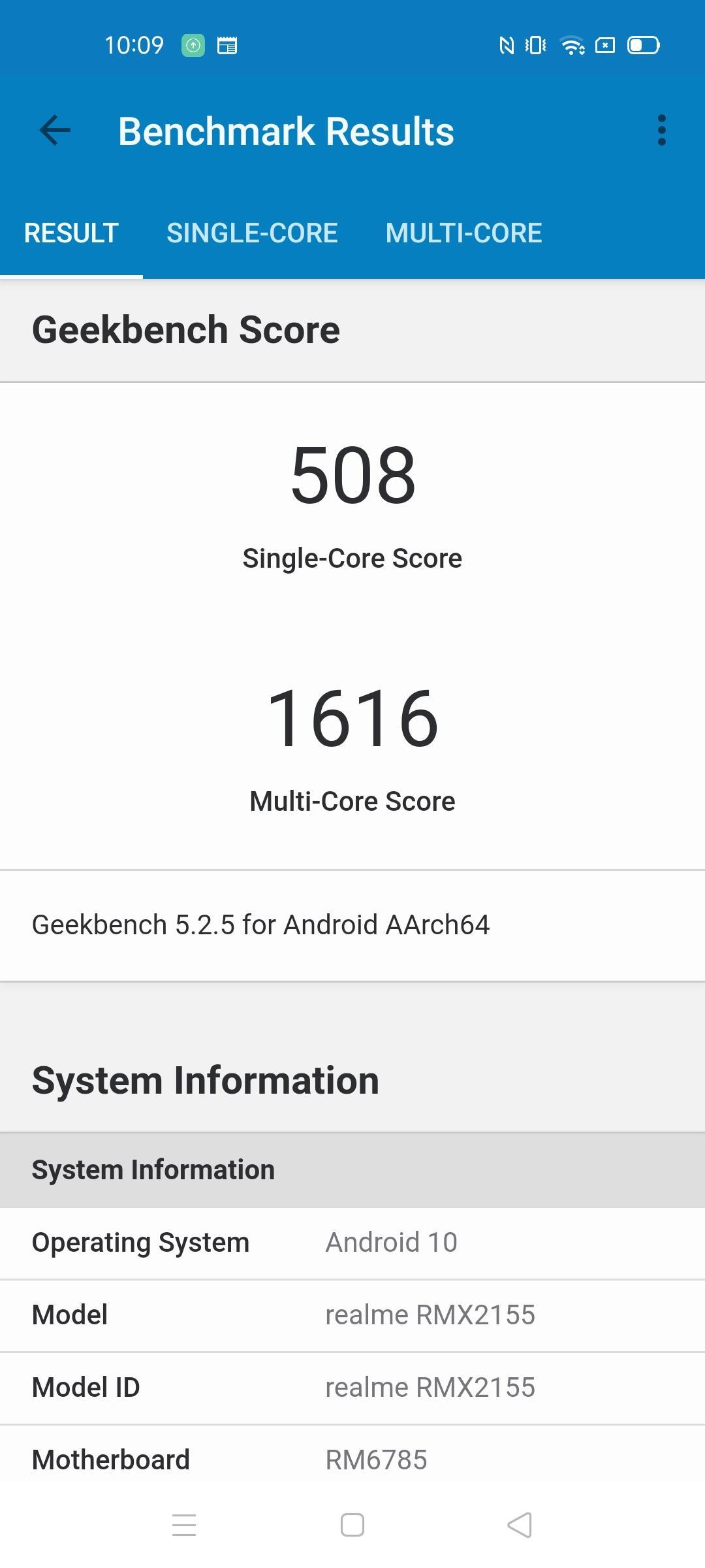 Geekbench Realme 7