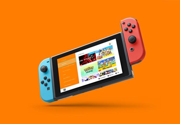 La parte superior de la tienda de Nintendo Switch