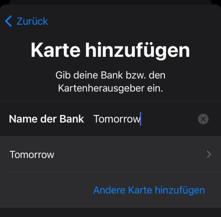 Tomorrow Apple Pay