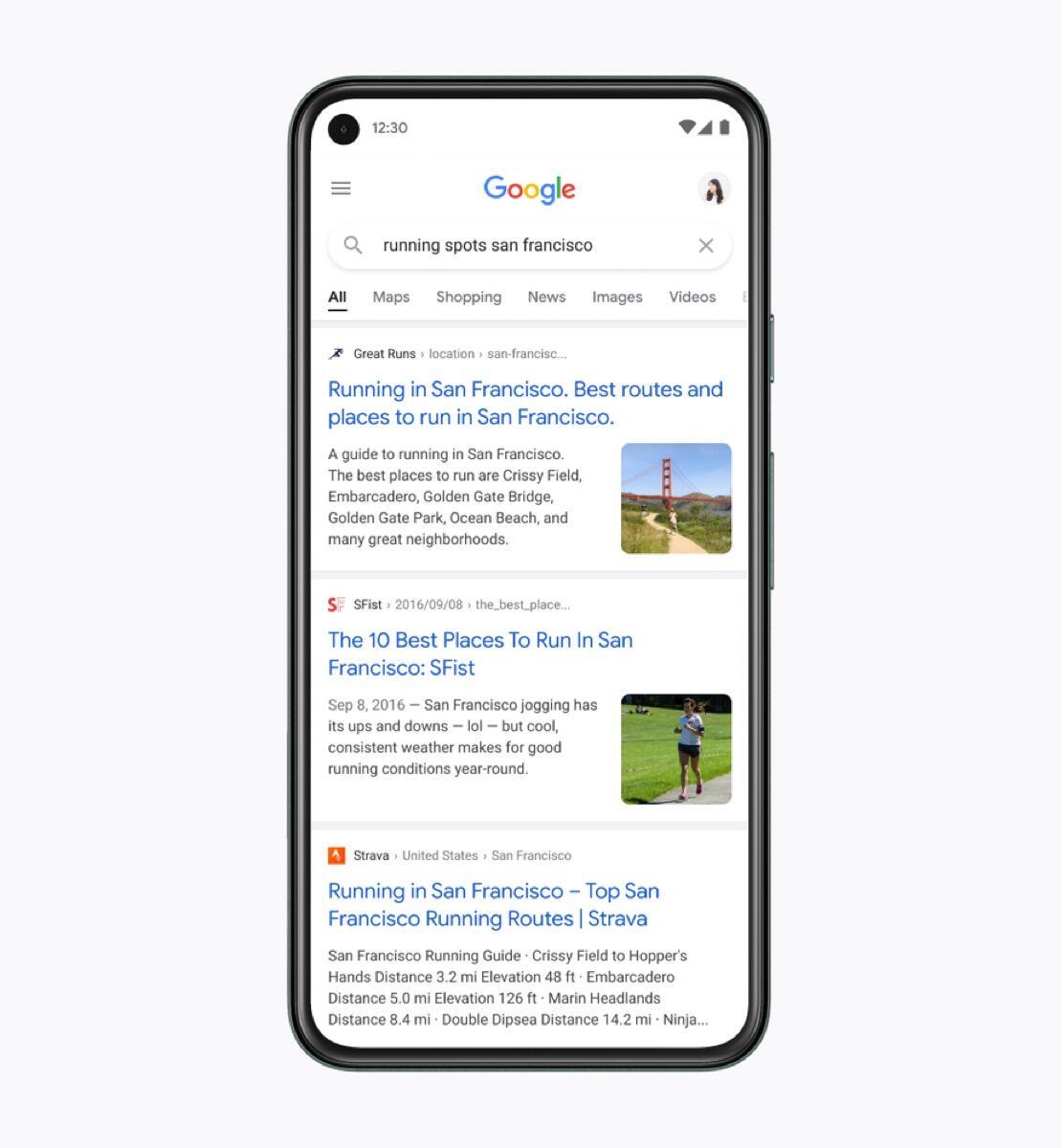 Google Suche Design Neu Ergebnisse