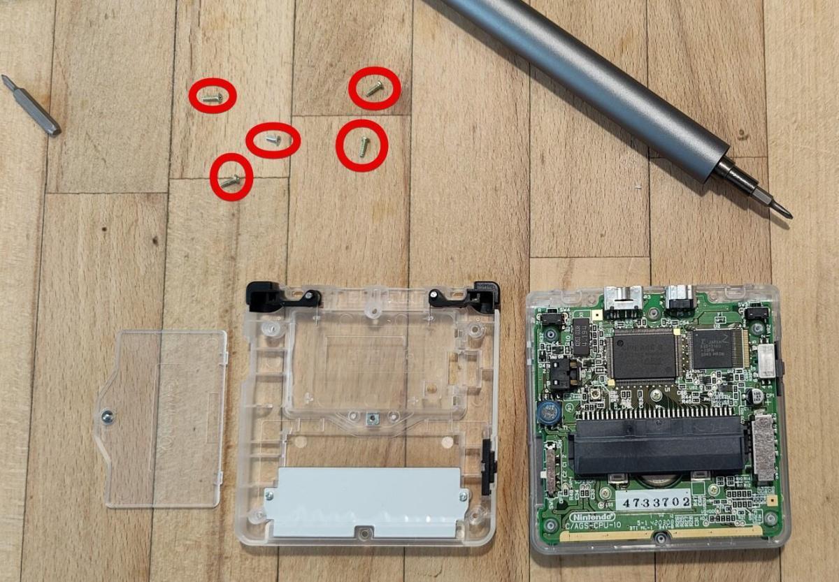 Nintendo Gameboy Advance Sp Display Und Case Umbau (6)