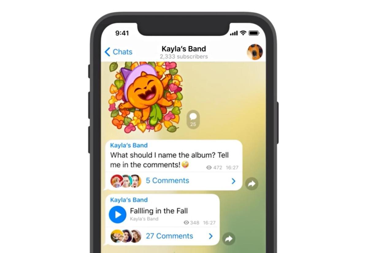 Telegram Header