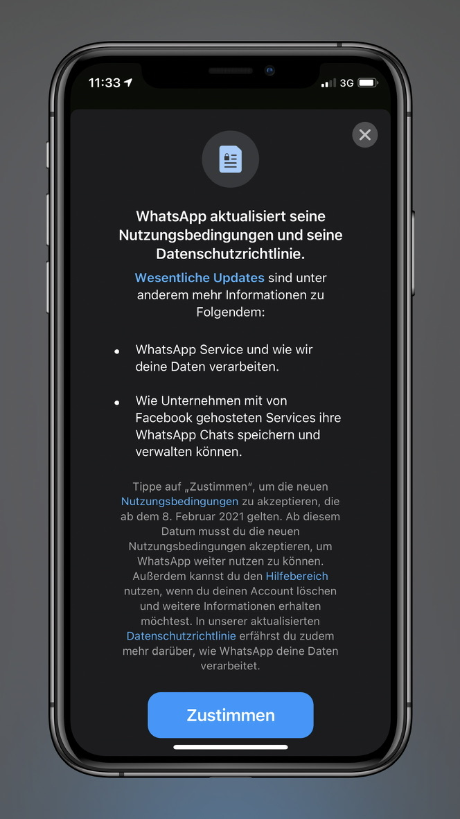 Whatsapp Facebook Uustimmen