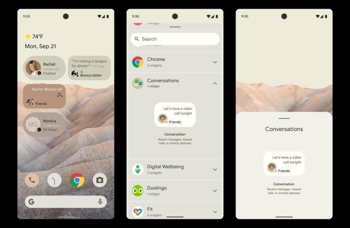 Android 12 Leak Widgets