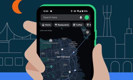 Google Maps Dark Mode Header