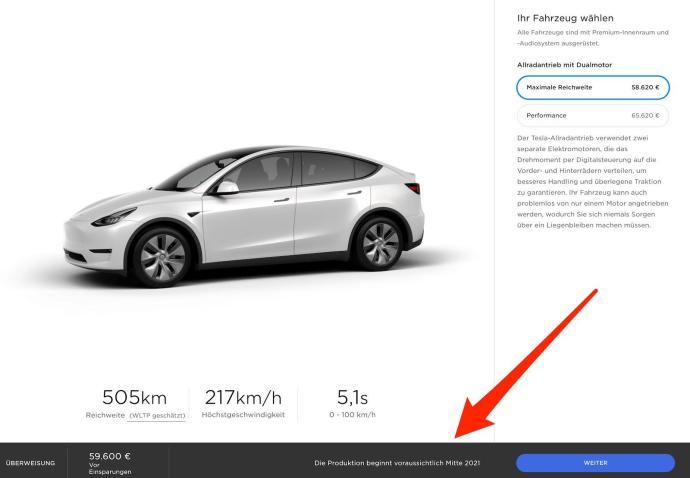 Tesla Model Y De Produktion