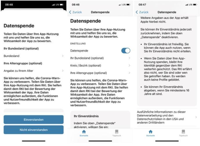 Datenspende Corona Warn App