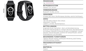 Huawei Band 6 Specs