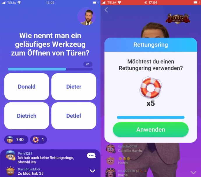 Quizduell Live Screen1
