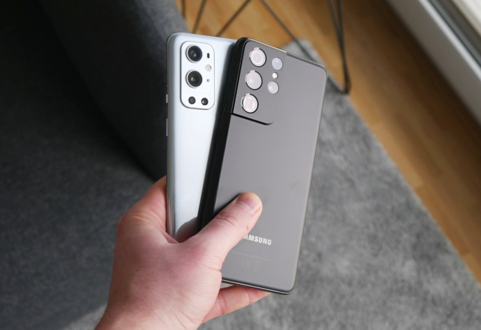 Samsung Galaxy S21 Ultra Oneplus 9 Pro Back