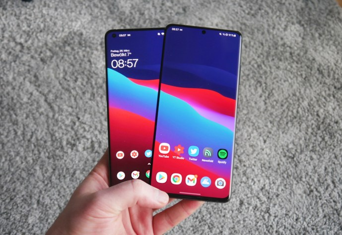 Samsung Galaxy S21 Ultra Oneplus 9 Pro Front
