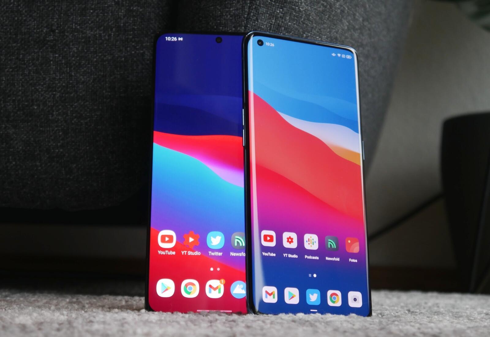 Samsung Galaxy S21 Ultra Oppo Find X3 Pro Front Vergleich