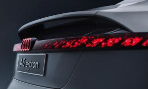 Audi A6 Etron Konzept Heckleuchte