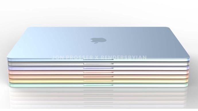 Apple Macbook Air 2021 Render Farben