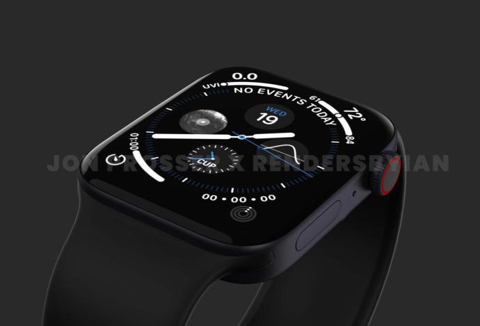 Apple Watch Series 7 Render Detail